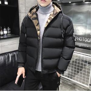 2020 новый зимний хлопок ватник мужской толстый слой тонкий хлопок ватник хлеб пальто с капюшоном проложенный куртки пальто Верхняя одежда ветровки