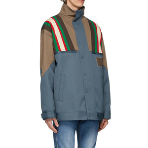 1020 2020 Free Shipping Autumn Brand Same Style Coat Button Lapel Neck Fashion Womens Clothes Plaid Striped S M L Changji