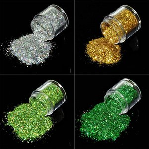 10ml   Box Laser Nail Glitter Mixing Shiny Hologram Hex Nail Sequin Decoration Flash Spark Manicure Dust 12 ColA00109XX