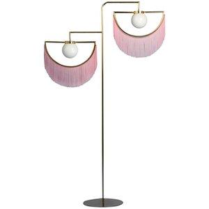 Yaratıcı Püskül Lambader Kaplama Altın Daimi Lambası İçin Oturma odası Yatak Ofis Sanat Dekor Nordic Kişilik Cam Işıklandırma