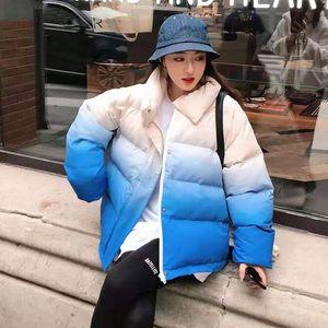 Women's clothing designer boutique design women fashion Korean autumn and winter 2020 new gradually minority cotton coat temperament all-mat