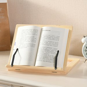 Adjustable Portable Wooden Reading Rack Wood Folding Bookrack Laptop Tablet Study Cook Recipe Book Stands WB2800