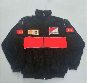 F1 traje de corrida, europeu e estilo faculdade vento americano roupas de algodão casual, jaqueta de inverno, motocicleta à prova de vento jaqueta