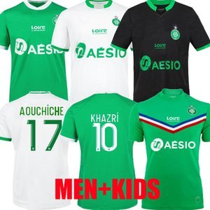 20 21 21 Maillot ASSE Soccer Jersey 2020 2021 As Saints-Étienne Bouanga Khazri Youssouf Boudebouz Hamouma Men Kit Kit Kit Camicia da calcio Attrezzature