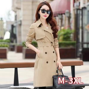 Women's Trench Coats 2021 Spring Coat For Women Streetwear Turn-down Collar Double Breasted Female Plus Size 3XL XXXL Sobretudo Feminino1