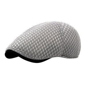PICEMICE CABBIE Newsboy Stil Düz Kap Gatsby Şapka Nefes Boina Mesh Kapaklar İlkbahar Yaz Sonbahar Erkek Kadın Casual Bere Şapka