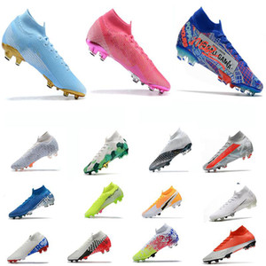 Safari CR7 Mercurial Superfly 7 VII Elite FG Rosa Rose Crampons Nuovo White Dream Speed ​​3 Mbappe Neymar Jadon Sancho Chaussures de football