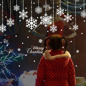 Beautiful Snowflake electrostatic Sticker Window Kids room Christmas Wall Stickers Home Decals Decoration New Year wallpaper