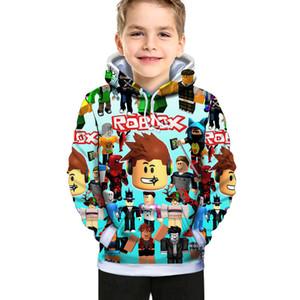 Детский мультфильм Детская одежда Roblox Новая корейская мода 3D цифровая весенняя и осень хлопчатобумажная печать популярных мальчиков и девочек