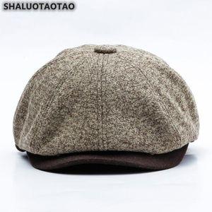 SHALUOTAOTAO Quality Woolen Felt Berets For Men Women Autumn Winter Fashion Thermal Painter Hat Vintage Leisure Sports Cap NEW