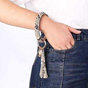 Nuovo multiful cuoio di PU lungo tassel tassel portachiavi moda tendenza semplice braccialetto grande braccialetto portachiavi keychain gioielli per le donne ragazze1