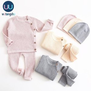 Baby Boy Clothes Set Autumn Winter Solid Color Newborn Baby Girl Clothes Long Sleeve Tops+Pants Outfits Suit Casual Costume