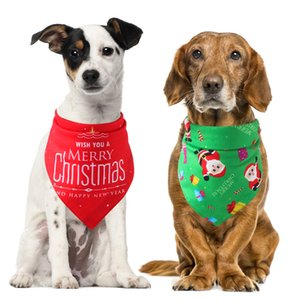 Christmas Pets Saliva Towel Dog Triangle Scarf Hot Sale Cat and Dog Scarf Elk Santa Claus Gift