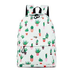 CIKER Water Resistant Fashion Cactus Printed School Backpack Polyester 14 Inch Laptop Cute Bookbag For Teenage Girls 201013