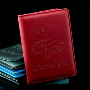 Hot Sale Pu Leather On Cover For Car Driving Documents Card Credit Holder Russian Driver License Bag Purse Wallet Case H sqcfqk
