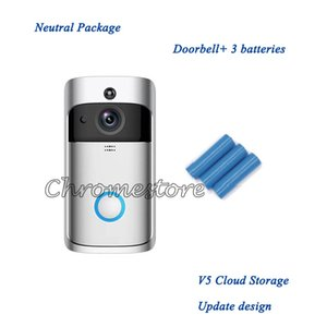 Cheap no logo wireless v5 campanelli domestici video video 720p HD wifi intelligence bidirezionale audio visione notturna campane con telecomando app