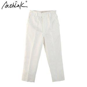 Acthink New Boys Blanco Spring Traje Sólido Pant Mandar Marca Inglaterra Estilo Pantalones de boda formales para niños Pantalones de traje negro, MC019 201203