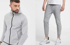 Двухфункциональные новые дизайнеры трексуиты Мужская Jogger мода баскетбол бегущий набор YKK молнию мягкой ткани классическая шить дизайн M-2XL костюм