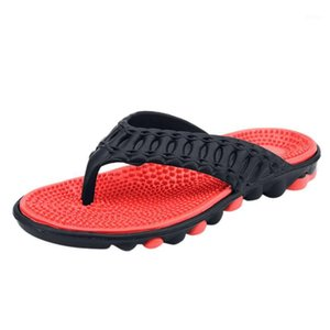 ON-MATO Yüksek Kalite Erkek Ayakkabı Erkek Terlik Artı Boyutu 40-45 Moda Yaz Erkekler Çevirme Açık Yumuşak Yumuşak Rahat Ayakkabılar Erkekler1
