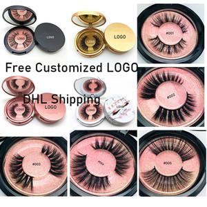 3D faux Mink Eyelashes Eye Makeup Mink Fake Lashes Natural Thick Eyelashes Eye Lash With Round Box Package Extension Beauty Tools GGA2468