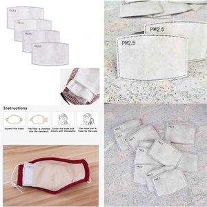 Tamponlar PM 2.5 Tek 5 Katlı Pm 2.pm2.5 Filtre toz geçirmez çekirdek Değiştirme Maske