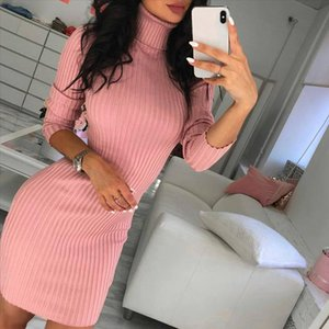 Sweaters For Women Womens Casual Long Sleeve Jumper High Neck Womens Turtleneck Sweaters Dress Sweater Women