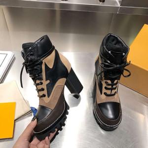 2020 نجمة جديدة درب الكاحل أحذية عالية الكعب أحذية، أحذية جلدية من جلد الغزال جلد العجل مع الجوارب الملتوية المستوحاة من قماش العسكرية، كعب 9 سم