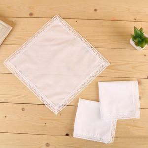 100% cotone bianco fazzoletto maschile tavolo hankerchef sudore assorbente asciugamano fai da te graffiti fazzoletto per bambino adulto HWA2095