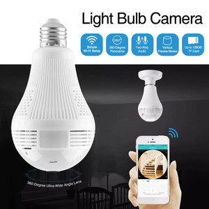 Wi-Fi Обзорный Fisheye 360 градусов Беспроводная камера IP светодиодные лампы Мини камеры 1.3MP 3D VR 960P безопасности Шарик камера WIFI CCTV