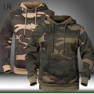 Men Hoodies Sweatshirt Autumn Winter Mens Military Camouflage Hooded Sportswear Man Camo Casual Jacket Male Pullover Coat
