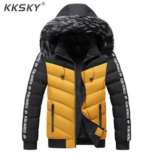 Kksky Kış Ceket Kaban Erkekler Yeni Kalın Sıcak Kapşonlu Parkas Ceketler Erkekler Rasgele Paltolar Giyim 5XL eskitmek Su geçirmez Sıcak