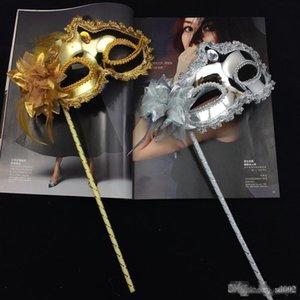 Stick de plata en la mujer de la mascarada veneciana Máscara Eyeline partido de la flor de lentejuelas de oro lateral del borde del cordón atractivo color 3 5GN Dd palo de plata Sphe