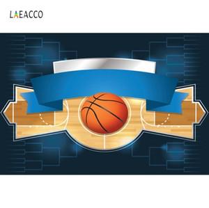 Laeacco Bebek doğum günü partisi Basketbol Afiş Poster Çocuk Portre Fotografik Arka planında Fotoğrafçılık Arka Fotoğraf Stüdyosu