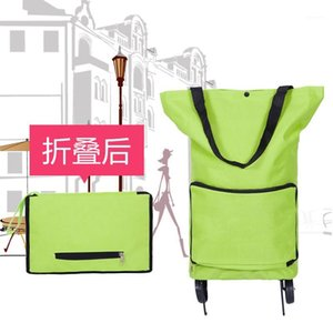 Large Shopping Bag with Wheels Shopping Cart Stylish Household Trolley Foldable Bag Tug Foldable Oxford Cloth1