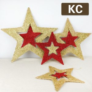 Fünf zackigen Stern drehen neues Jahr Einkaufszentrum großes Gemälde Weihnachtsdekoration goldenen fünfzackigen Stern Pulver Fensterdekoration Yiwu