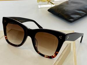 4S004 Yeni kare kare yeni güneş Basit bir atmosfer vahşi tarzı UV400 koruma mercek gözlük gözlük kadın için moda güneş gözlüğü gelişmiş
