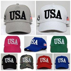 Trump Baseball Hat USA Flag Embroidered Cap Snapback Fashion Outdoor Hip Hop Caps Adjustable Casual Ball Cap 2020 Republican Cap EWD1276