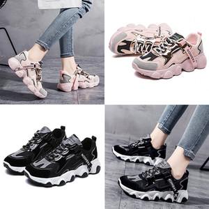 Moda Papai Sapatos Mulheres Outono e Inverno Sapato Explosão Modelos Respirável All-Match Sapatos Casuais Tênis Brancos Sapatilhas Tendências