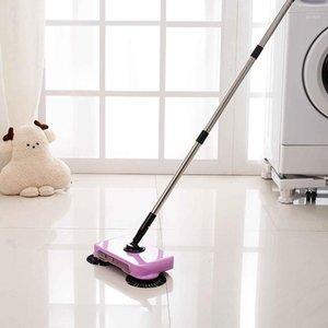 2 en 1 Portátil de acero inoxidable Mano Push Sweepers Mano Push Magic Broom Suelo Polvo Sweepers Dustapspan Hogar Limpieza Herramientas 1