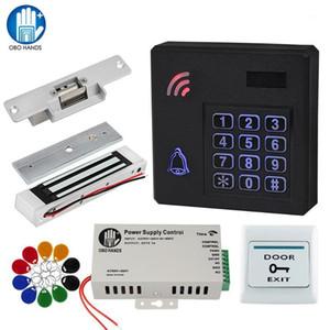 Obo RFID DFID Access Control System System Kit Set IP68 Lecteur de clavier imperméable avec verrouillage de la porte de commande électronique + alimentation de l'alimentation