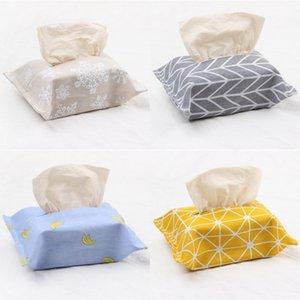 Magie klebende Tissue Boxen Baumwolle und Leinen Papiertuch Tasche Originalität OPP Packung Serviettenkästen Beliebte Wiederverwendbare 1 9BJ J1