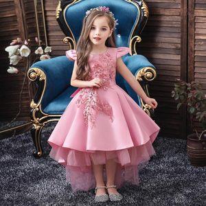 2020 Summer Flower Girls Kids Dresses For Girls Princess Dress Elegant Wedding Party Dress Teenage Children Clothing 10 12 Years