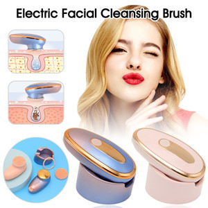 2-in-1 Electric Face Cleansing Brush beauty instrument Silicone Sonic Electric Facial Cleanser Deep Washing Face Massager
