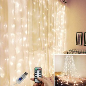 New Year Christmas Decoration for Home Lights LED Curtain Birthday Wedding Party Backdrop Baby shower Kid Bachelorette Decor