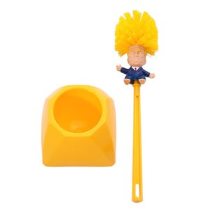 Komik Donald Trump Tuvalet Fırçaları Plastik Tutucular Ile Banyo Fırçası Tutucular Pratik Temizlik Ürünleri Için Duş Odası 6 8Me E1