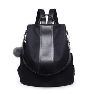 """Рюкзак """"Качественная кожаная кожаная анти-кража Женщины Холст Школьные сумки для подростков Дамы повседневные пэчворк рюкзак плечевые мешки"""