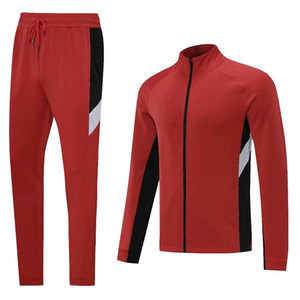 Stock Autumn Winter Sports Jacket Men's Football Training Running Jerseys Soccer Tracksuit Appearance Clothing Zip up Clothes