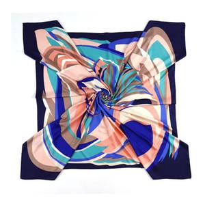 Oil Painting Square Scarf New Brand Women Winter Twill Print Turban Headband Large Hijab Infinity Scarf Silk Scarf 200930