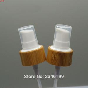 20 adet / grup 24mm Bambu Ahşap Kozmetik Losyonu Pompası, Yüksek Kaliteli Bambu Emülsiyon Meme, 24/410 DIY Ortak Pump Groods