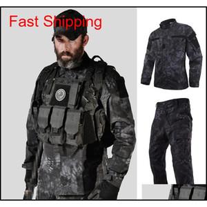 Tactical Us Ru Army Camouflage Combat Uniform Men Bdu Multicam Camouflage Uniform Clothing Set Airsoft Outdoor Jacket + Pants 0Zlng